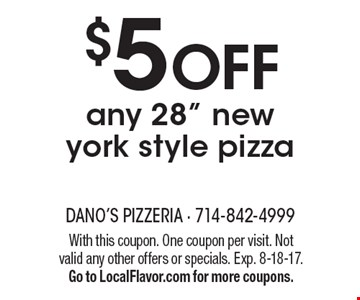 $5 off any 28