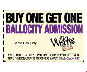 Buy one get one Ballocity admission