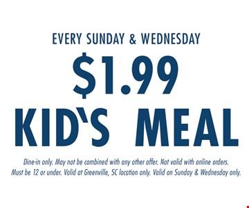 $1.99 Kid's Meal