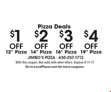 Pizza Deals $1 Off$2 Off$3 Off$4 Off12