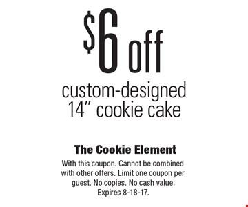 $6 off custom-designed 14