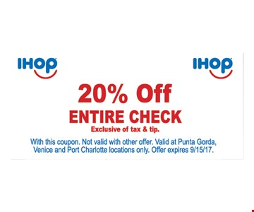 20% off entire check