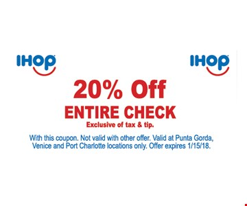 20% off your entire check.