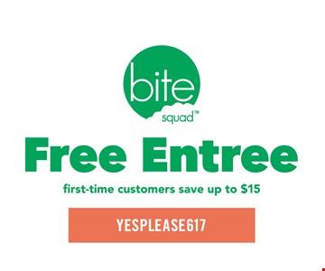 Free entree.