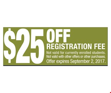 $25 Off Registration Fee