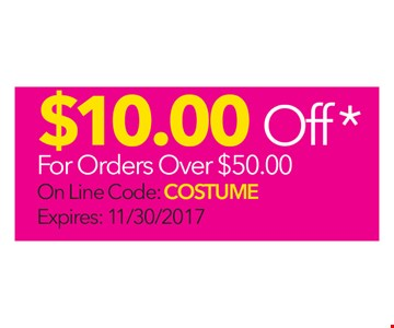 $10 Off For Orders Over $50