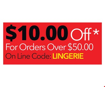 $10 off order over $50