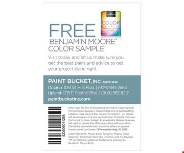 Free Benjamin Moore Color Sample