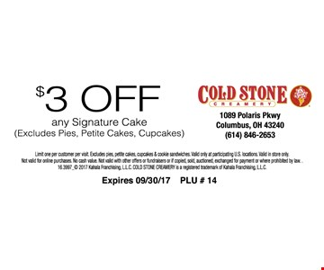 $3 Off Any Signature Cake