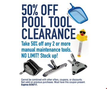 50% Off Pool Tool Clearance