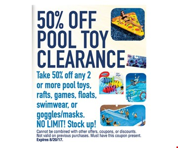 50% Off Pool Toy Clearance