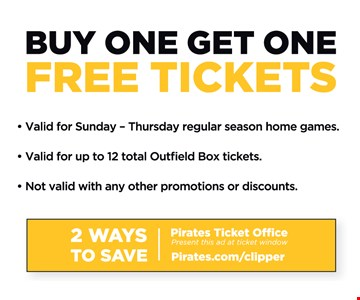 Buy One Get One Free Tickets