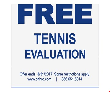 free tennis evaluation