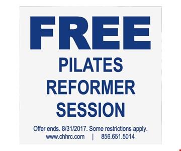 free pilates reformer session