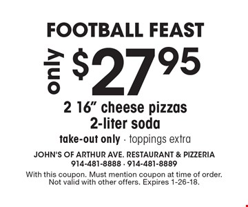 Football Feast only $27.95 2 16