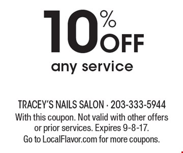 10% Off any service. With this coupon. Not valid with other offers or prior services. Expires 9-8-17. Go to LocalFlavor.com for more coupons.