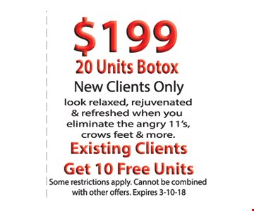 20 units of botox for $199