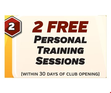 2 free personal training sessions