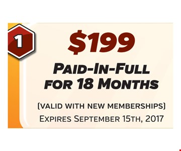 $199 18 months of fitness