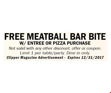 Free meatball bar bite with purchase.