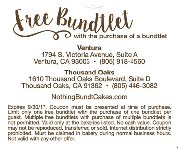 Free Bundlet with purchase
