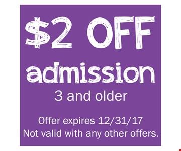 $2 Off Admission
