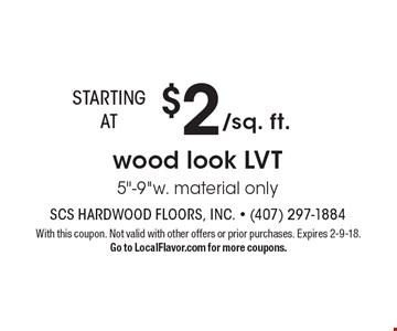 $2/sq. ft. wood look LVT 5