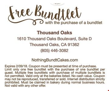 Free Bundlet when you purchase a bundtlet