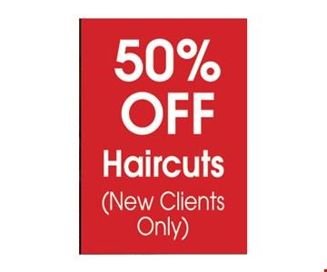 50% off haircuts