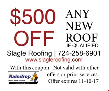 $500 Off Any New Roof
