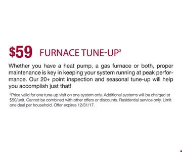 $59 Furnace tune-up