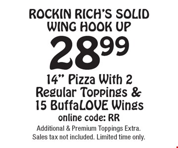 Rockin Rich's Solid Wing Hook Up 28.99 14