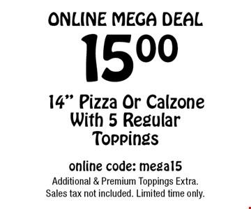 Online Mega Deal. 15.00 14