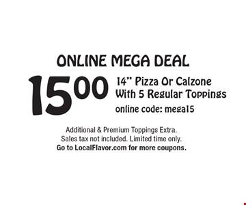 Online Mega Deal - 15.00 14