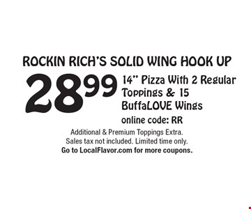 Rockin Rich's Solid Wing Hook Up - 28.99 -  14