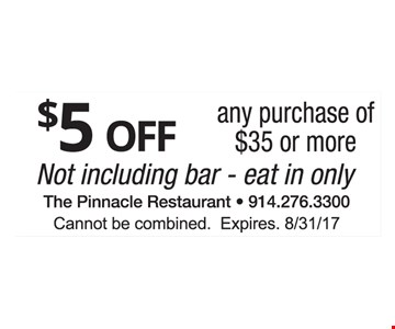 $5 off any purchase of $35 or more