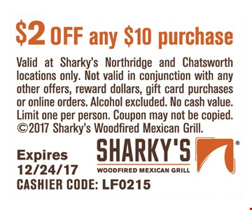 $2 off any $10 purchase