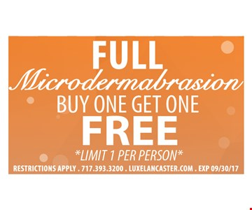 Full Microdermabrasion Buy One Get One Free
