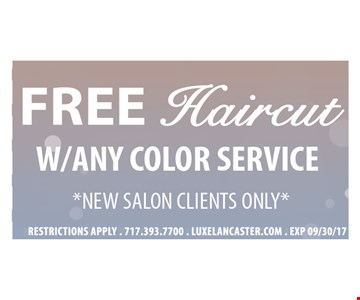Free haircut w/any color service