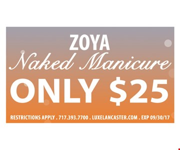 Zoya Naked Manicure only $25