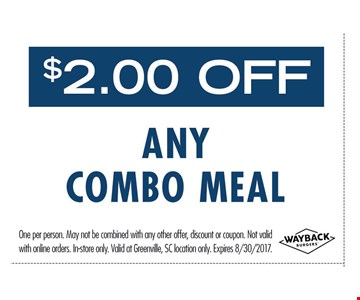 $2.00 OFF any Combo Meal