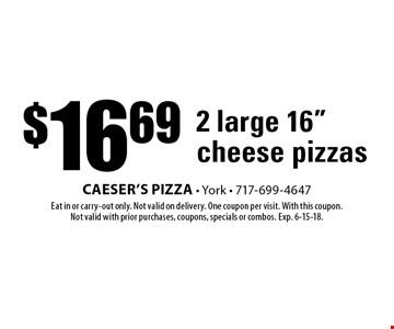 $16.69 2 large 16