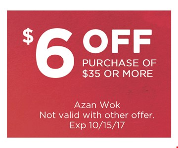 $6 Off Purchase of $35 or more