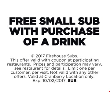 Free Small Sub with Purchase