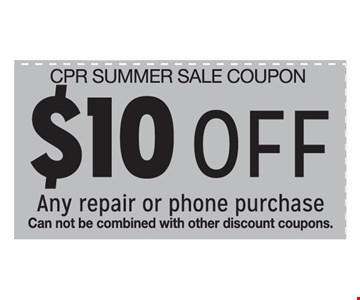 $10 Off Any repair or phone purchase