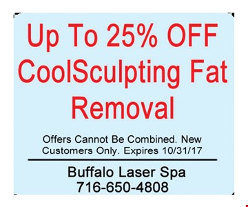 Up to 25% Off CoolSculpting Fat Removal