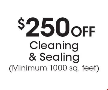 $250 Off Cleaning & Sealing (Minimum 1000 sq. feet).