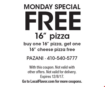 Monday Special. Free 16