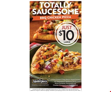 Large BBQ Pizza just $10