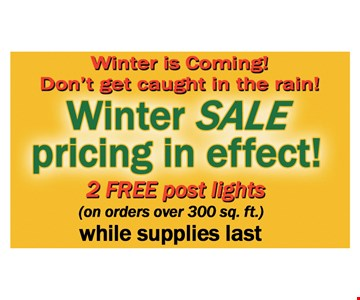 winter sale pricing in effect